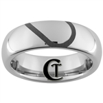 6mm Dome Tungsten Carbide Half of a Heart Design Ring.