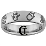 6mm Dome Tungsten Carbide Anime Favorites Design Ring.