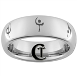 6mm Domed Tungsten Anime 07 Ghost Designed Ring.