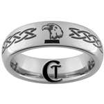 6mm Dome Tungsten Eagle & Dire Wolf Designed Ring.