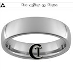6mm Dome Tungsten Legend of Zelda Triforce Doctor Who Designed Polished Ring.