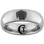 6mm Dome Tungsten Carbide Spiderman Design Ring.