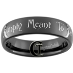 6mm Black Dome Tungsten Carbide Nightmare Before Christmas Jack and Sally Simply Meant To Be Design Ring.