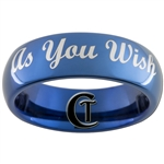 6mm Blue Dome Tungsten Carbide As You Wish Design Ring.