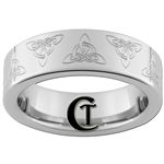 6mm Pipe Tungsten Carbide Celtic Triangles Design Ring.