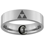 6mm Pipe Tungsten Carbide Legend of Zelda Triforce Design Ring.