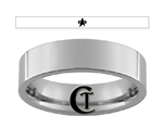 6mm Pipe Tungsten Carbide Star Trek Voyager Starfleet Design Ring.