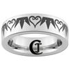 6mm Pipe Tungsten Carbide Kingdom Hearts and Crowns Design Ring.