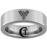 6mm Pipe Tungsten Carbide Phoenix Design Ring.