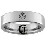 6mm Pipe Tungsten Carbide Star Trek Starfleet Insignia Design Ring.