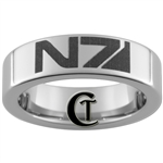 6mm Pipe Tungsten N7 Mass Effect Design Ring.