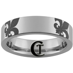 6mm Pipe Tungsten Carbide Fleur De Lis Design