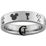 6mm Pipe Tungsten Carbide Kingdom Hearts Design