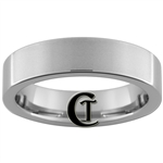 6mm Tungsten Carbide Pipe Satin Finish Ring