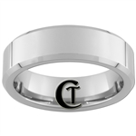 7mm Beveled Tungsten Carbide Ring