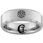 7mm Beveled Tungsten Iron Man Arc Reactor Ring