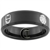 7mm Black Beveled Tungsten Iron Man Ring