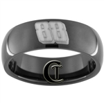 7mm Black Dome Tungsten Carbide Dirty South NASCAR 88 Design Ring.