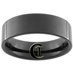 7mm Black Pipe Tungsten Carbide Ring