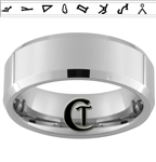 8mm Beveled Tungsten Carbide Stargate Design