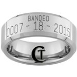 Build Your Own Custom 8mm Beveled Tungsten Carbide Duck Band Design