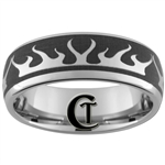 8mm Dome Tungsten Carbide Flames RIng Design