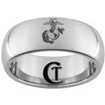 8mm Dome Tungsten Carbide Marines Eagle Globe and Anchor Ring Design.