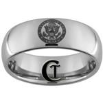 8mm Dome Tungsten Carbide Army Crest Design Ring.