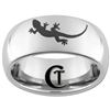 8mm Dome Tungsten Carbide Gecko Design