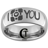 8mm Dome Tungsten Carbide I Love You Portal Laser Design