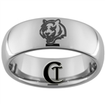 8mm Dome Tungsten Carbide Tiger Design