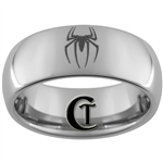 8mm Dome Tungsten Carbide Spiderman Laser Design