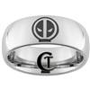 8mm Dome Tungsten Carbide Deadpool Ring Design