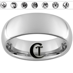 8mm Dome Tungsten Carbide Power Rangers RIng Design