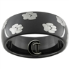 8mm Black Dome Tungsten Carbide Laser Paw Prints Design