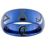 8mm Blue Dome Tungsten Carbide Stargate Design