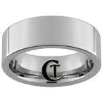 8mm Pipe Tungsten Carbide Polished Ring
