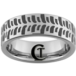 8mm Pipe Tungsten Carbide Mudbogger Tire Tread Design Ring.