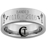 Build Your Own Custom 8mm Pipe Tungsten Carbide Duck Band Ring