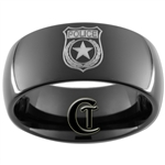 9mm Black Dome Tungsten Carbide Police Design