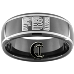 9mm Black Dome Tungsten Carbide FBI Design
