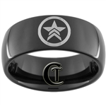9mm Black Dome Tungsten Carbide Mass Effect Design