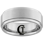 9mm One Step Pipe Tungsten Carbide Ring