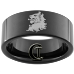 9mm Black Pipe Tungsten Lion Coat of Arms Design