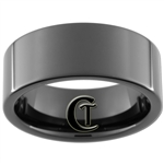 9mm Black Pipe Tungsten Carbide Ring