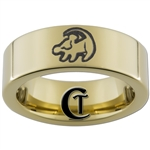 9mm Gold Pipe Tungsten Carbide Lion King Simba Design