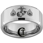 10mm Beveled Tungsten Carbide MARINES Symbol & Staff Sergeant Design.