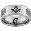 10mm Beveled Tungsten Carbide Masonic 32 Degree Master Mason Design