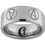 10mm Beveled Tungsten Carbide Atheist Design