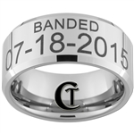 Build Your Own Custom 10mm Beveled Tungsten Carbide Duck Band Design